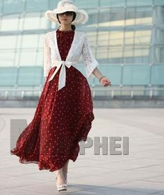 Retail Free Fashion Women's Polka Dots Maxi Long Work Dresses1 | Buy Wholesale On Line Direct from China