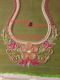 Discover thousands of images about The Friday Christmas Patch Work Blouse Designs, Maggam Work Designs, Blouse Designs Silk, Designer Blouse Patterns, Bridal Blouse Designs, Dress Designs, Embroidery Works, Hand Embroidery Designs, Beaded Embroidery