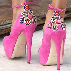 Brian Atwood Zenith Lux pink pumps