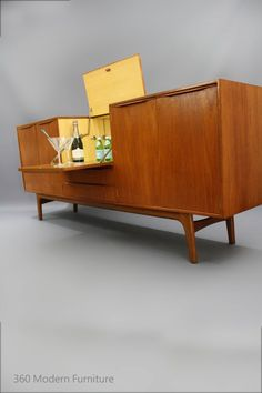 MID Century Sideboard Buffet Cocktail BAR Teak Cabinet Retro Vintage Drawers Noblett Danish era in VIC | 360 Modern Furniture eBay