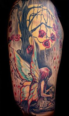 flower fairy tattoos for women - Google Search