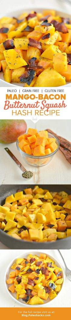 Sweet, salty, savory? You got everything covered with this Mango Bacon Butternut Hash! For the full recipe visit us here: http://paleo.co/butternuthash