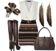 """""""Gucci Leather Knee Boots"""" by tyraamail ❤ liked on Polyvore"""