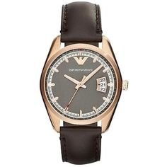 Pre-owned Emporio Armani Sportivo Leather Ladies Watch Ar6024
