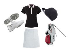 """golf"" by mayang-muchtar on Polyvore featuring Calvin Klein Golf, Nancy Lopez and NIKE"
