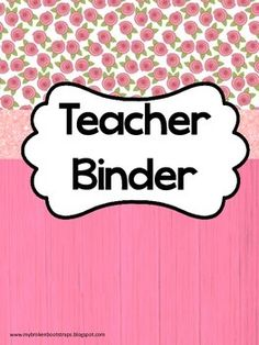 Limited Time Upgrade! When you purchase your binder, simply leave a message in the ratings section with your email address and how you would like to personalize your binder. I will add your name, school name, or a special divider to make it more personal and the fonts will match!This pink themed binder is perfect for organizing unruly papers in the classroom.