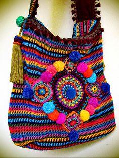 ~ colorful crohet bag ~ | Flickr - Photo Sharing!