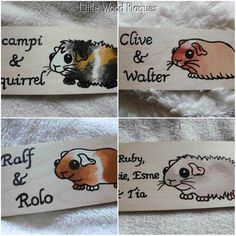 Handmade wooden personalised guinea pig by LittleWoodPlaques, £4.00