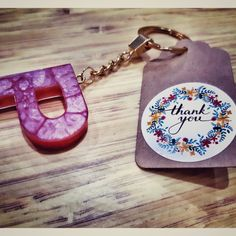 Beautiful keychains made with resin.