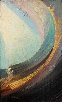 Giacomo Balla-Spiritual Scene (Man and Woman penetrated by light) , oil on canvas, Canvas Artwork, Oil On Canvas, Beatles, Giacomo Balla, Italian Futurism, Italian Art, Art Abstrait, Gustav Klimt, Trends