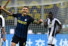 Mauro Icardi of FC Internazionale celebrates the victory at the end of the Serie…