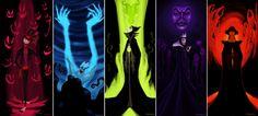 Professor Facilier, Ursula, Maleficiant, Evil Queen, Judge Frolo