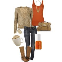 If you know me, you are aware that I love fall and the color orange. Love this fall outfit! I have a great necklace to start the look! #BellaShayewithDayna