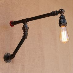 Iron Water Pipe Edison Wall Lamp Industrial Vintage Wall Sconce Bedside Light Fixtures For Home Lighting Bar Cafe Living Room
