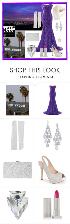 """Hollywood Glam"" by emms-millinery ❤ liked on Polyvore featuring Carolee, Sondra Roberts, Lauren Lorraine and Lipstick Queen"