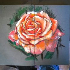 Painting sketch of Rose by francois shogreen, gouache on paper