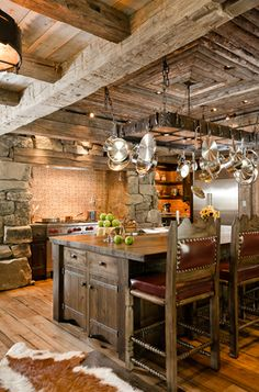 Cabin kitchen by Pearson Design Group