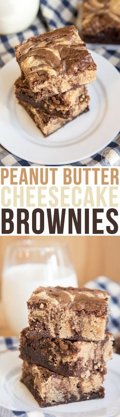 1 box brownie mix eggs, oil and water as called for on brownie mix For the Peanut Butter Cheesecake Swirl: 8 oz cream cheese, softened ¾ cup peanut butter ½ cup sugar 1 egg 1 TBS flour ½ tsp vanilla extract