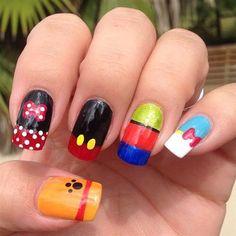 Mickey and Friends Nail Art #nailart #naildesigns #nails #mickeymouse #disney #mickey