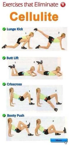 Moves that Help Eliminate Cellulite