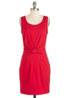 Bow Tied and Beautiful Dress. Tie your look together with this bold, red dress! #gold #prom #modcloth