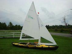 Folbot kayak with sails