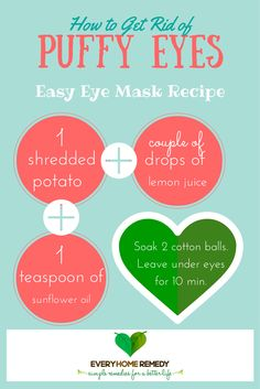 Easy, Quick and Natural Ways to Get Rid of Puffy Eyes: No need to buy the best eye cream, you can do this at home in 15 minutes!