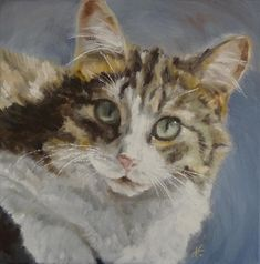 Cat Painting - My Cat - Precious by Veronica Coulston