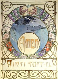 'Le Pater' (The Lord's Prayer) by Alphonse Mucha, published 1899.