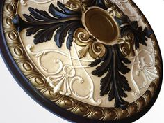 Ceiling medallionPARIS hand painted in black by accentbydesign, $140.00