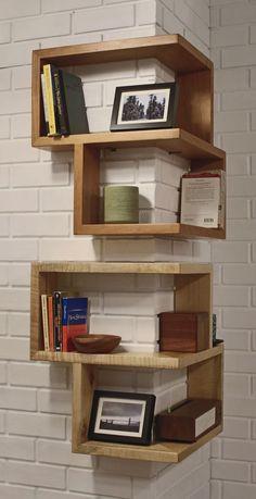 Librerie e Mensole : Libreria angolare in legno massello