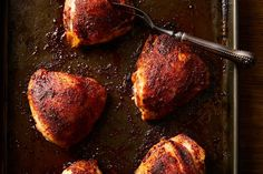 Sheet-Pan Chicken Thighs With Magic Spice Blend Recipe on Food52, a recipe on Food52 Easy Chicken Thigh Recipes, Chicken Recipes, Winter Dishes, Smitten Kitchen, Spice Blends, Food 52, Chicken Thighs, Food Dishes, Main Dishes