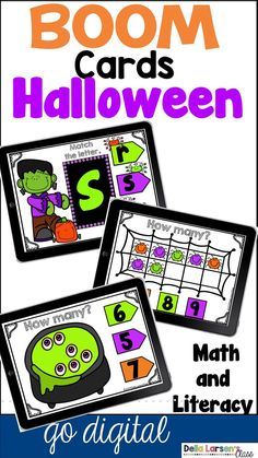 Boom Cards Halloween Math and Literacy Bundle Distance Learning Primary Classroom, Google Classroom, Kindergarten Classroom, Kindergarten Activities, Classroom Ideas, Classroom Resources, Elementary Teacher, Elementary Education, Learning Resources