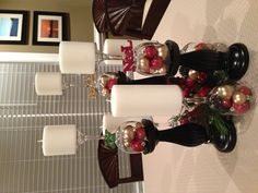 Wine glass Christmas decoration, just love this!