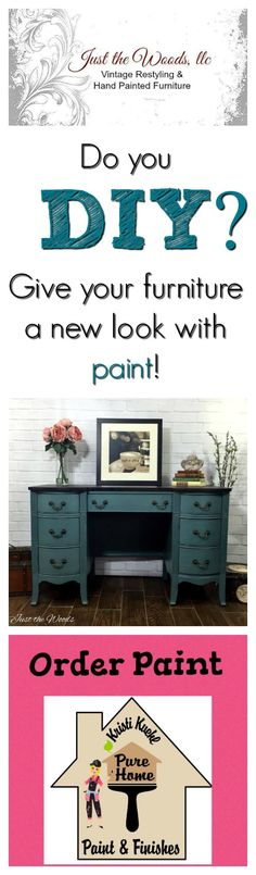 Add a gorgeous floral stencil to a painted furniture project for