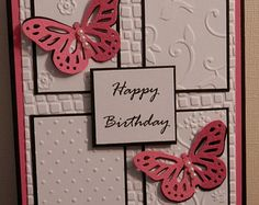 """Hand Crafted """"Happy Birthday"""" Greeting Card"""
