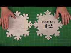 "DIY 10"" Snowflake for Menus and Programs"