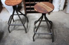 Perfect Industrial Timber bar stool from Mulbury Gallery Direct (Melbourne)