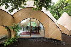 capanne di legno nei boschi