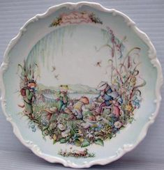 Royal Albert - Wind In the Willows Collection - Collector Plates www.royalalbertpatterns.com - 'Picnic'