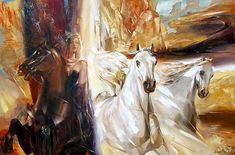 The artist Vladislav Guriev \ Romance female images. Discussion on LiveInternet - Russian Service Online diary Romanticism, Female Images, Contemporary Artists, Landscape Paintings, Oil On Canvas, Art Gallery, My Arts, Drawings, Online Diary