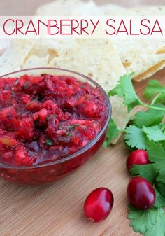 This homemade Cranberry Salsa Recipe is my go-to holiday party recipe! It's fresh and tangy with a nice little kick. It's quick, easy and oh-so-festive for all your holiday gatherings!