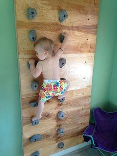 Climbing wall kids room rock climbing wall for toddlers share on share rock climbing gym kid . Toddler Climbing Wall, Indoor Climbing Wall, Kids Climbing, Rock Climbing Walls, Montessori Toddler, Toddler Activities, Montessori Homeschool, Baby Play, Boy Room