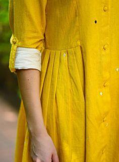 Buy online Dresses - Ki shifuto dress from The Burnt Soul Kurti Sleeves Design, Sleeves Designs For Dresses, Kurta Neck Design, Sleeve Designs, Fashion Designer, Indian Designer Wear, Designer Dresses, Designer Kurtis, Kurta Designs Women