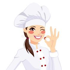 Chef Woman Gesturing Okay Sign. Young confident chef woman in uniform winking on , #Ad, #Young, #confident, #chef, #Sign, #Chef #ad Cartoon Chef, Girl Cartoon, Spice Image, Chef Logo, Bakery Business Cards, Anime Artwork, Portrait Photo, Bottle Crafts, Female Art