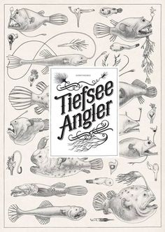 Behance yoluyla Jared Muralt tarafından Deep Sea Anglers,