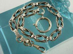Edle 800 Silber Taschenuhrkette, 23 g, ca. 1900   eBay