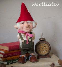 Needle felted gnome by Woollittles on Etsy