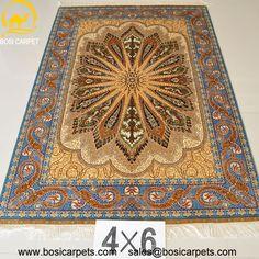 Hand knotted silk rug # Rug No.: P0291  # Quality: 230L (368kpsi) # Size: 4x6ft (122x183cm) # Material: 100% Silk # wholesale Price: $1080/piece # If you have any interests, please email to sales@bosicarpets.com         handmadesilkcarpet#handmaderug#silkrug#silkcarpet#carpet#persiancarpet#persianrugs#rug#handmaderug#handknottedrug#iranrug#chineserug#turkeyrug#turkishcarpets#silkcarpets#silk#floorrug#hali#ipekhai#redrug#bluecarpet#turleycarpet