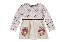 Owl Jersey Dress - Children - Tu Clothing At Sainsbury's Bell Sleeves, Bell Sleeve Top, Sainsburys, Owl, Children, Clothing, Dresses, Women, Fashion